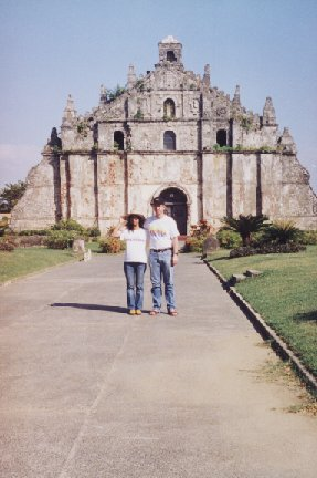 Paoay Church with Mercy and Tino